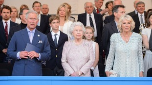 Sitting in the royal box on either side of the monarch were the Prince of Wales and Duchess of Cornwall