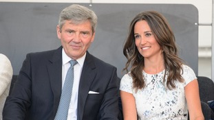 Michael and Pippa Middleton in the royal box