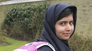 ducation rights activist Malala Yousafzai, on her way to school in March this year.