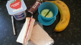 Sarah Mortimer from West Yorkshire sent in this picture of her child's packed lunch.