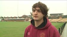 Northamptonshire fast bowler Jack brooks