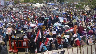 Supporters of the Muslim Brotherhood are gathering in Cairo.