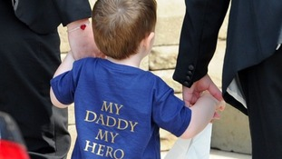 "The young son of Lee Rigby paid tribute to ""My Daddy My Hero."""