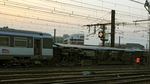 The SNCF said the train was carrying about 385 passengers