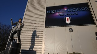 The statue paying tribute to Michael Jackson outside Craven Cottage