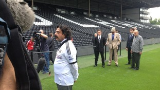 Shahid Khan at Craven Cottage earlier today