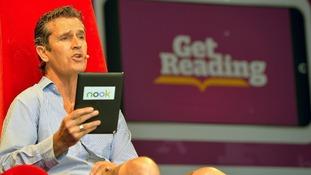 British Actor Rupert Everett reads from a book by Oscar Wilde,