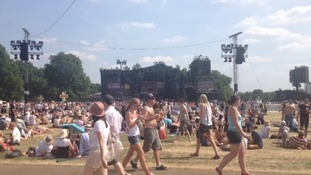 Hyde Park is filling up for the Rolling Stones