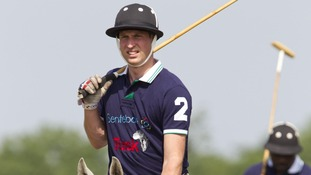 The Duke of Cambridge competed against his brother in a game of polo on Saturday.
