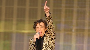 The Rolling Stones' Mick Jagger performs in Hyde Park.