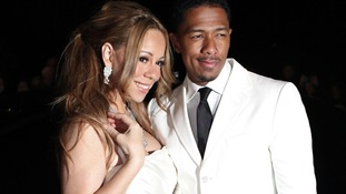The singer Mariah Carey and her husband Nick Cannon