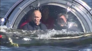 "After the dive President Putin said the trip was, ""it's not scary, it's very interesting."""