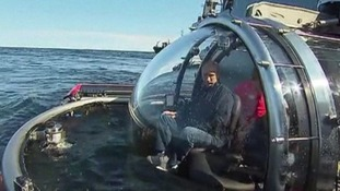 President Putin before the dive.
