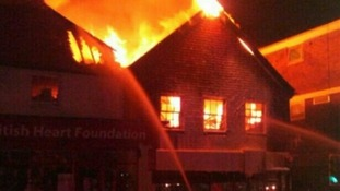 Firefighters tackled the fire in Uckfield