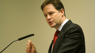 Liberal Democrat leader Nick Clegg has backed his party's review into Trident alternatives.
