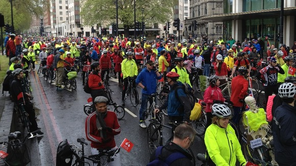 Cyclists in Park Lane