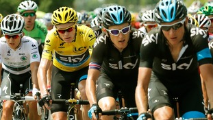Chris Froome of Team Sky has been forced to answer doping questions, to his great dismay.