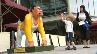 The Freddie gorilla had to be removed