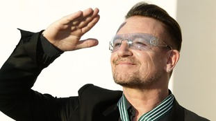 "Bono said the honour was ""unspeakably special"" but that it belonged to the whole of U2."