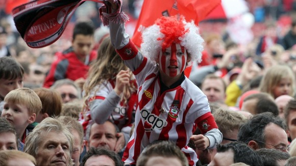 young southampton fan