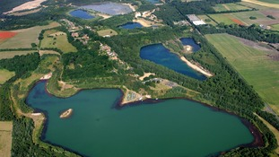 Aerial view of Bawsey Pits