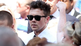Ray Quinn among mourners