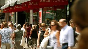 Discounts drive retail sales boost.