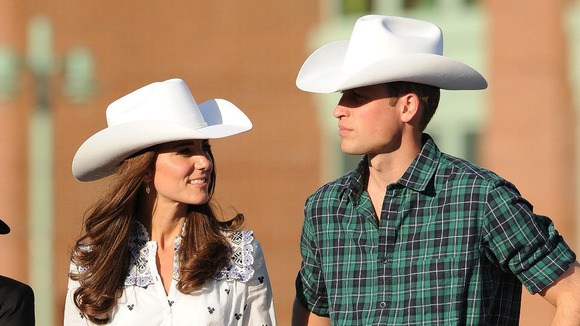 Duke and Duchess of Cambridge arrive at BMO Centre to watch the Calgary Stampede in Calgary, Alberta, Canada.