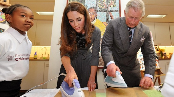 Prince of Wales and the Duchess of Cambridge during a visit to the Dulwich Picture Gallery in south London.