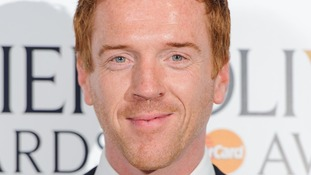 Homeland star Damien Lewis, nominated for best actor in a TV drama.