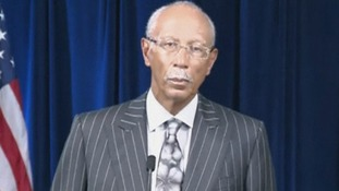 The Mayor of Detroit Dave Bing at a news conference today.