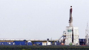 Shale gas rig at Banks, near Southport.