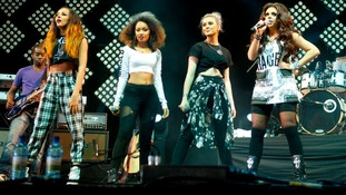 little mix performing at another festival