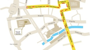 map of Reading route