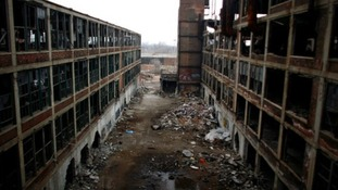 The abandoned manufacturing plant of Packard Motor, Detroit.
