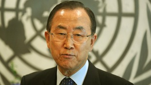 UN Secretary-General Ban Ki-moon .