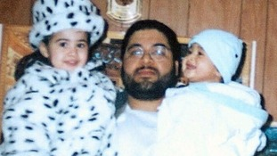 Shaker Aamer with two of his children before his detention at Guantanamo Bay.