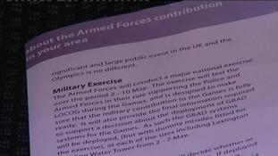 This part of the leaflet advises residents about planned military exercises