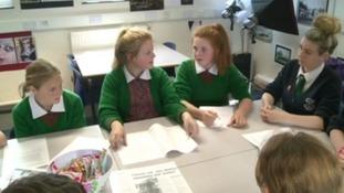 Pupils campaign to save St Brigid's School, Denbigh from closure