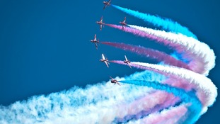 Red Arrows take to the skies in Royal Air Tattoo