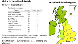 Most of England has a heat health warning of yellow level 2.