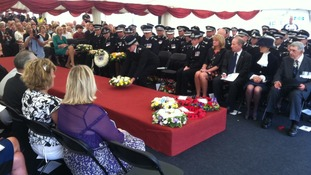 SerService for police officers killed on duty