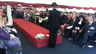 Memorial service for police officers killed on duty
