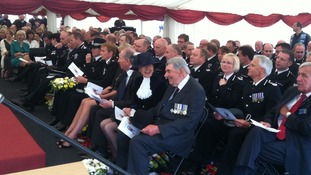 Police forces represented at memorial for officers killed on duty