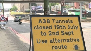 The tunnels will be closed for 24 hours a day for seven weeks.