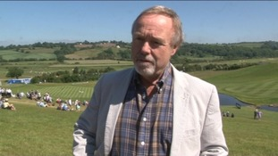 Sir Terry Matthews with 2012 Ryder Cup Course as backdrop