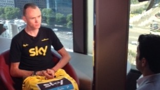 Tour de France champion Chris Froome speaks to ITV News' Lewis Vaughan Jones.