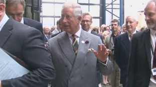 Prince Charles during a visit to the National Railway Museum in York.