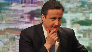 Prime Minister David Cameron on BBC'1s The Andrew Marr Show