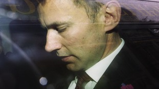 ritain's Secretary for Culture, Jeremy Hunt, is driven from the Department of Culture, Media and Sport in central London April 25, 2012
